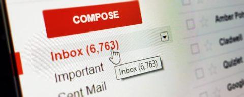 Screenshot von Gmail